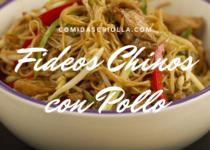 Fideos chinos con pollo