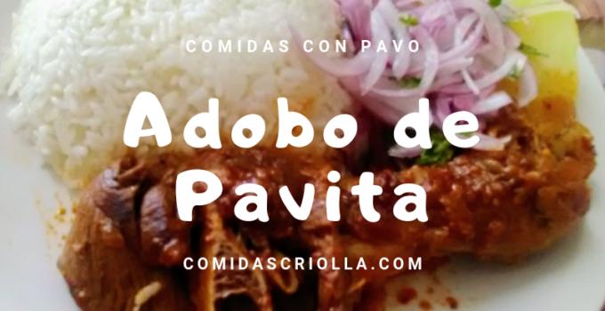 Adobo de pavita